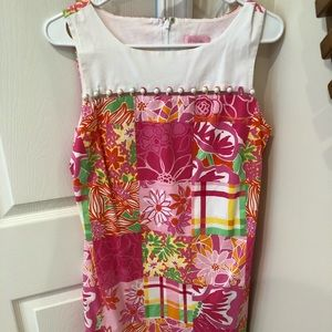 Lilly Pulitzer Pink patchwork dress size 6